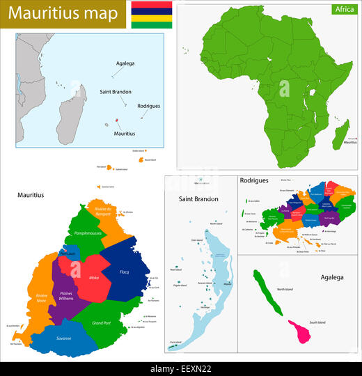 Map Africa Mauritius Stock Photos Map Africa Mauritius Stock - Africa mauritius map