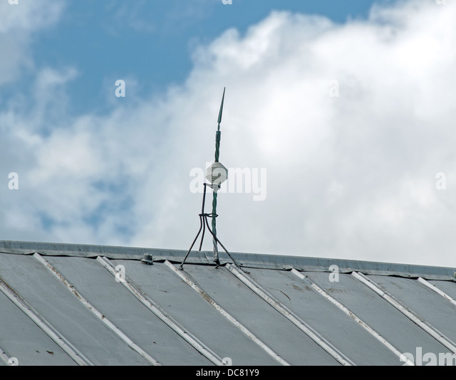 Lightning Rod On Barn Roof In Ohio USA   Stock Image