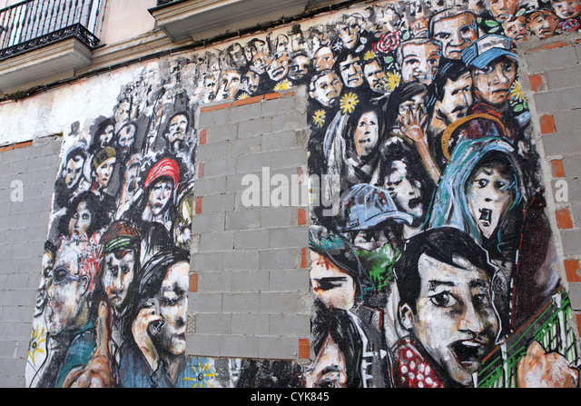 Bricked up stock photos bricked up stock images alamy for Crowd wall mural