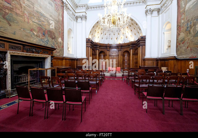 The Irish House Of Lords Chamber, In The Former Irish Houses Of Parliament,  Now