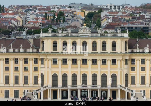 Austria. Vienna. Tele photo of  Schönbrunn Palace - Stock Image