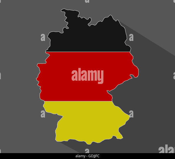 German Country Map Stock Photos German Country Map Stock Images - Germany map cartoon