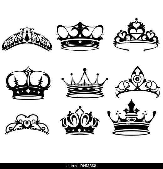 Line Art Crown : Crown vector vectors stock photos