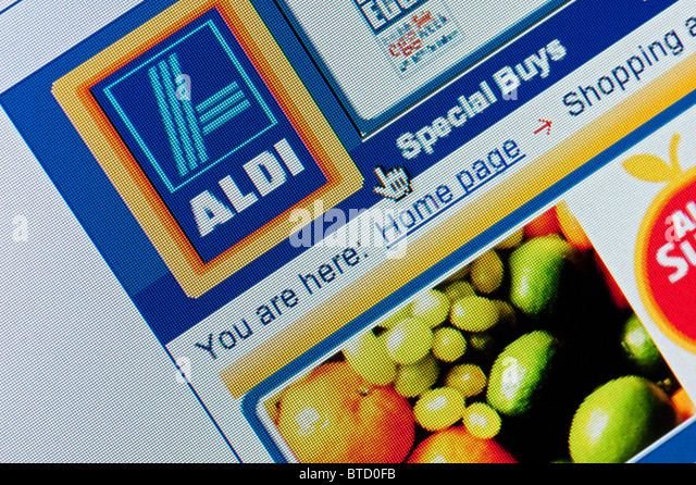 Detail Of Screenshot From Website Of Aldi Home Shopping And Delivery Service Stock Image