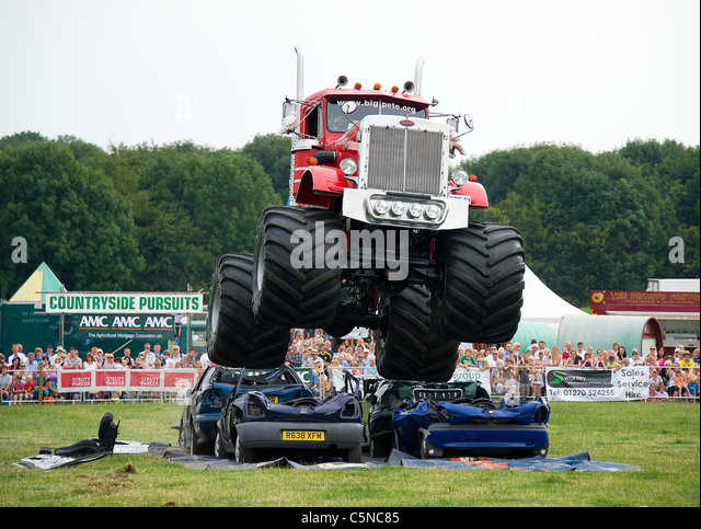 Monster Truck Crushing Cars Stock Photos Monster Truck Crushing