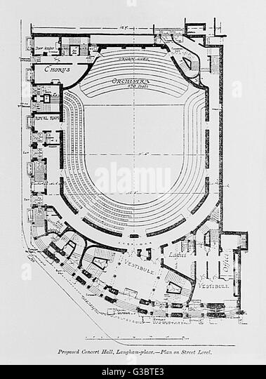 Ground Floor Plan For The Queens Hall A Concert Hall In Langham Place G Bte