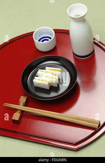karasumi daikon, bottarga with radish, appetizer for rice wine ...