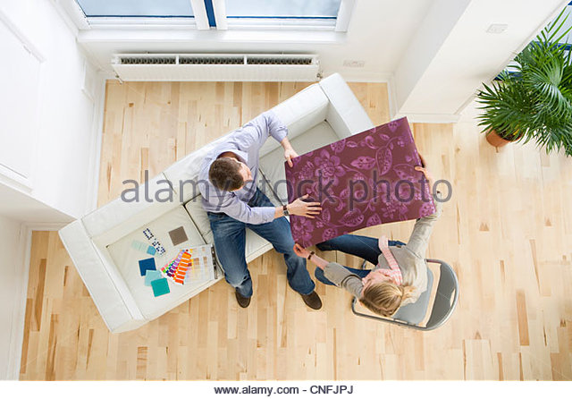 Domestic room interior stock photos domestic room for Sample wallpaper for living room
