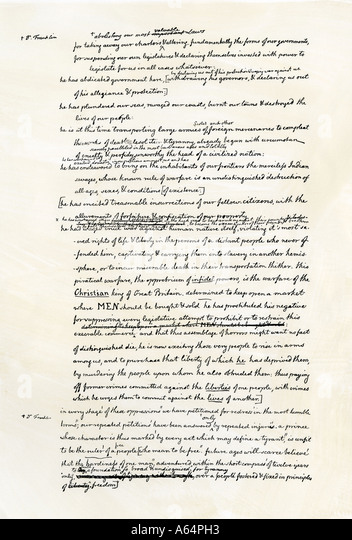 the final draft of the declaration of independence Founding father wrote the first draft of the declaration of independence  2) in  the final voting by the continental congress to approve the declaration, one.