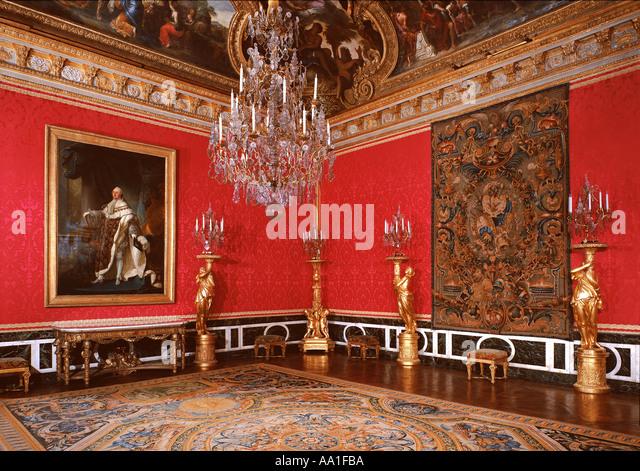 Louis xiv versailles painting stock photos louis xiv for Salon d apollon