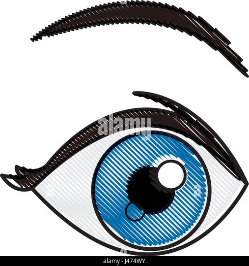 Blue Eye Stock Vector Images Alamy
