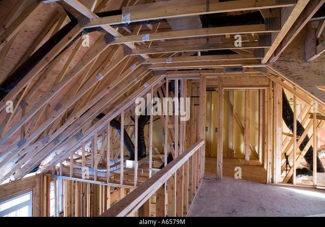 Interior Framing New House Under Stock Photos & Interior Framing ...