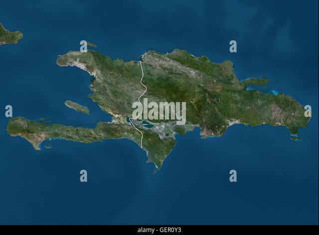 Haiti and the dominican republic stock photos haiti and the satellite view of haiti and the dominican republic this image was compiled from data acquired gumiabroncs Gallery