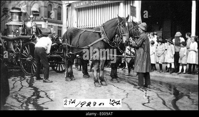 Horse Drawn Fire Engine Stock Photos Amp Horse Drawn Fire