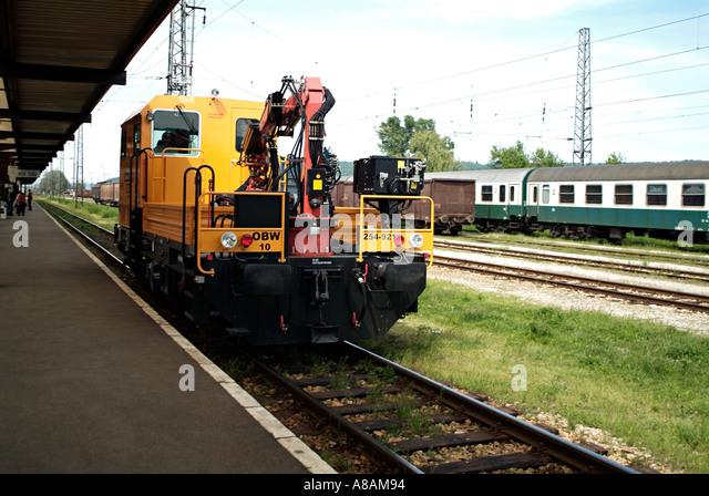 Rail maintenance vehicle stock photos rail maintenance for Nj motor vehicle inspection stations near me