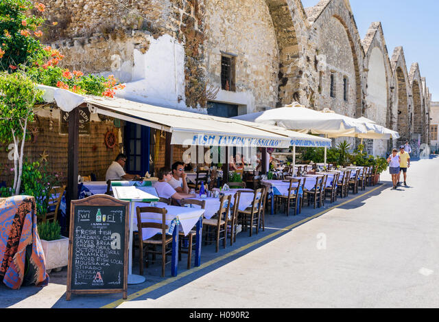 Chania Restaurant Stock Photos Chania Restaurant Stock Images Alamy