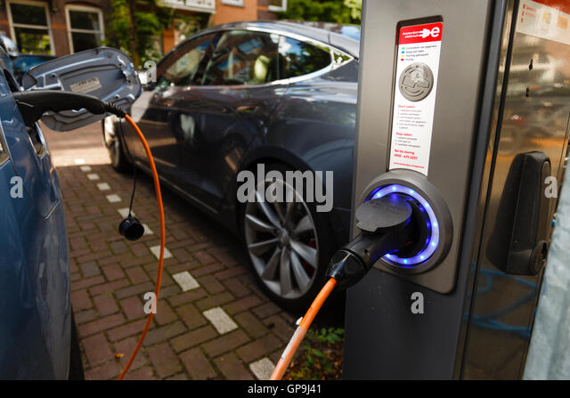 Amsterdam Holland Netherlands Parked Electric Stock Photos
