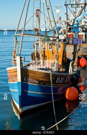 Amble northumberland stock photos amble northumberland for Inshore fishing boats