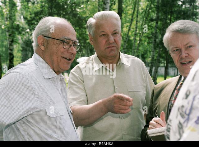 Boris Vinogradov Soviet Diplomat Robert Strauss Stock P...