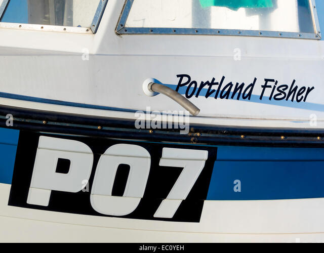 fishing boats are registered with letters indicating original port of registry and a number po