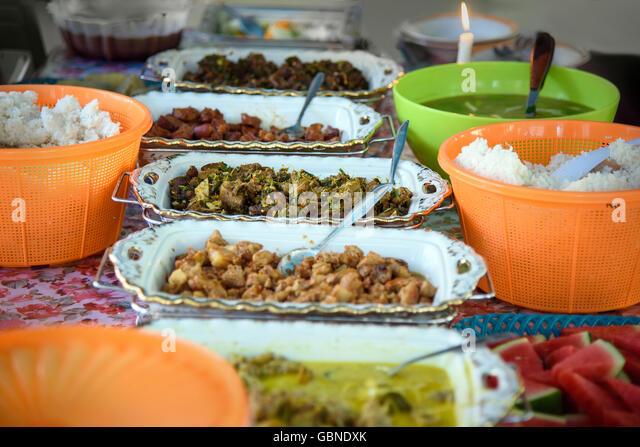 Malaysian Food Market Stock Photos