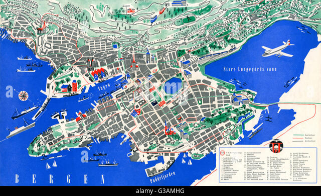 Norway Map Stock Photos Norway Map Stock Images Alamy - Norway map bergen
