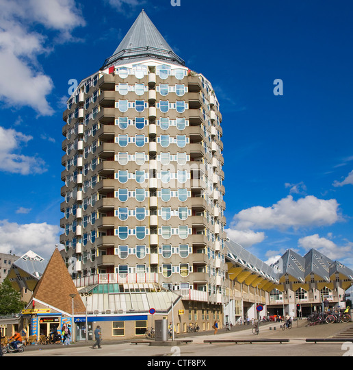 Modern Architecture The Pencil Building, Blaak, Rotterdam Netherlands    Stock Image