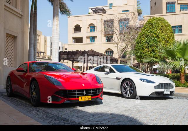 Dubai Uae Parking Luxury Car Stock Photos Dubai Uae Parking