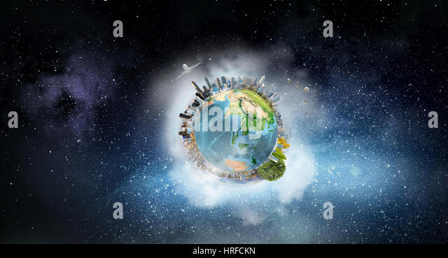 Globe map 3d stock photos globe map 3d stock images alamy for 3d map of outer space