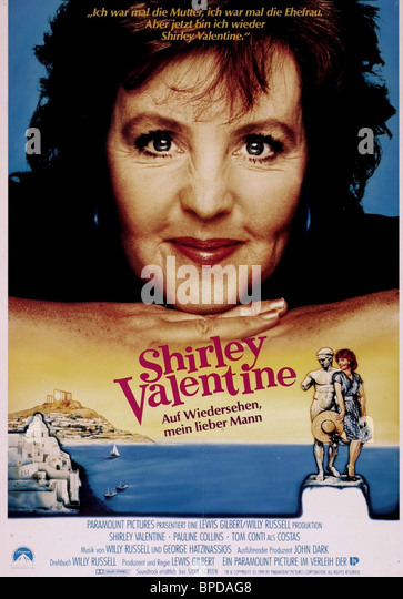 PAULINE COLLINS POSTER SHIRLEY VALENTINE (1989)   Stock Image