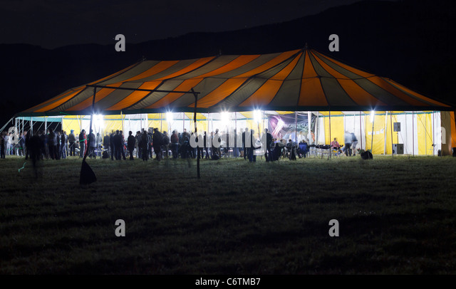 big tent with people in night - Stock Image & The Big Tent Stock Photos u0026 The Big Tent Stock Images - Alamy