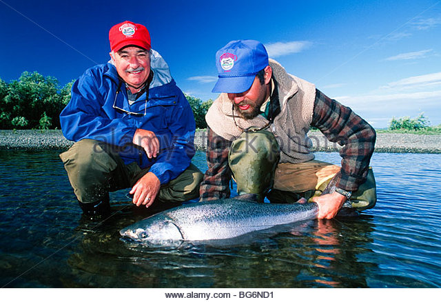 how to catch chinook salmon from the bank