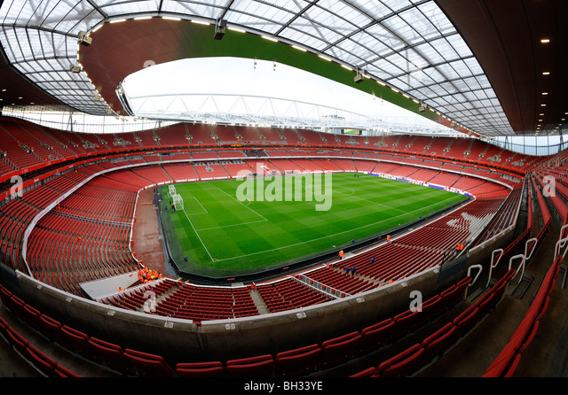 Arsenal fc football ground stadium stock photos arsenal for Emirates stadium mural