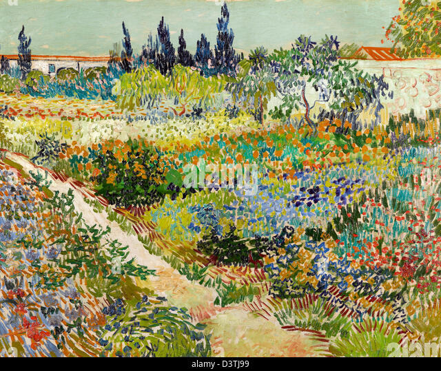Superieur Vincent Van Gogh, Garden At Arles 1888 Oil On Canvas. Gemeentemuseum Den  Haag