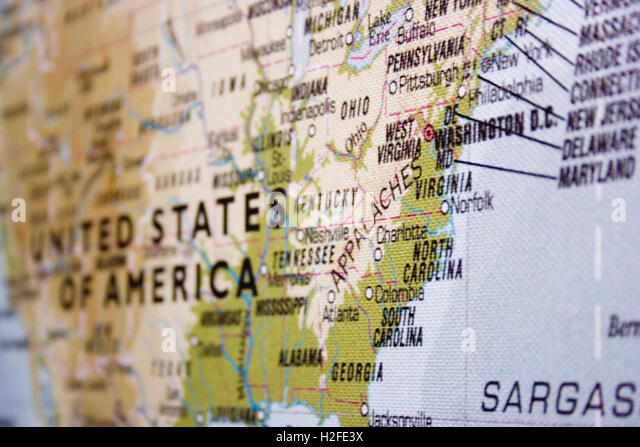 Eastern United States Map Stock Photos Eastern United States Map - Us map of east coast states
