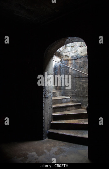 Stairs leading to a dark cellar or basement  Stock Image Leading Basement Photos