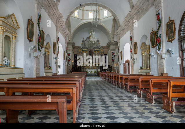 Interior Of The Campeche Cathedral Mexico