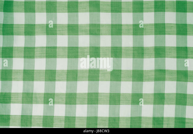 Green Checkered Tablecloth Background Texture   Stock Image