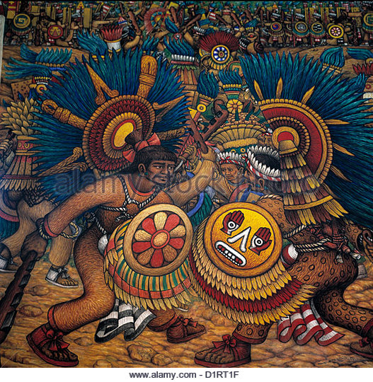 Aztec shield stock photos aztec shield stock images alamy for Aztec mural tattoos