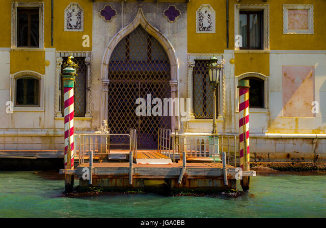 Venice entrance from off the Grand Canal - Stock Image