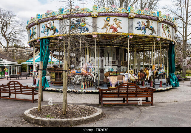 Childrens funfair ride stock photos childrens funfair for Bois de boulogne jardin d acclimatation