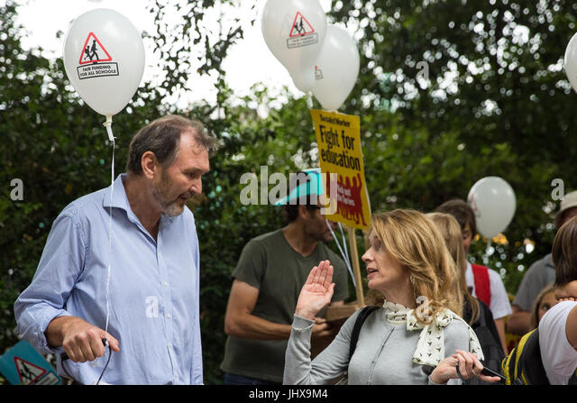 London, UK. 16th July, 2017. Kevin Courtney, General Secretary of the National Union of Teachers (NUT) and Mary - Stock Image