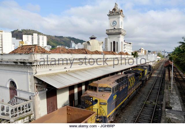 Locomotive And Composition Of The MRS Railway Station Juiz De Fora Minas Gerais
