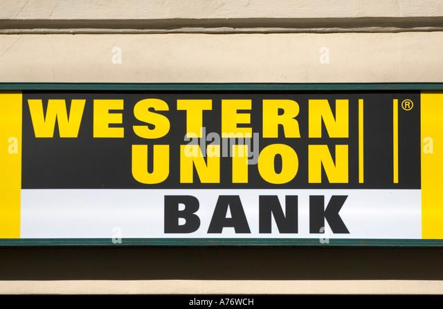 Western Sky Loans >> Western Union Sign Stock Photos & Western Union Sign Stock Images - Alamy