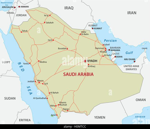 Saudi Arabia Map Stock Photos Saudi Arabia Map Stock Images Alamy - Map of egypt and saudi arabia