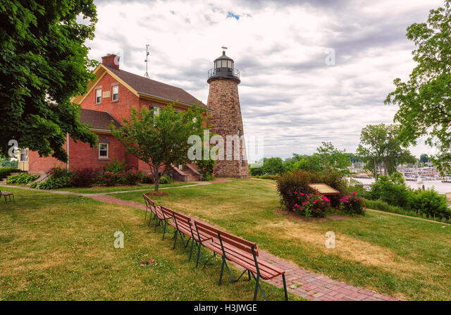 Charlotte Genesee Lighthouse: Rochester Museum Stock Photos & Rochester Museum Stock
