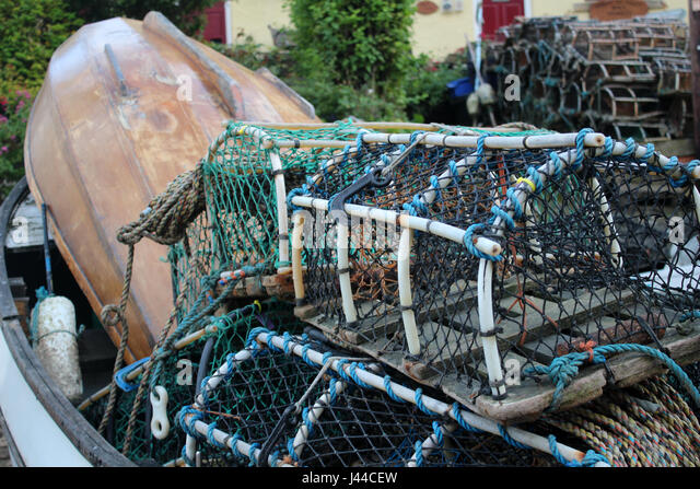 lobster fishing industry - Stock Image