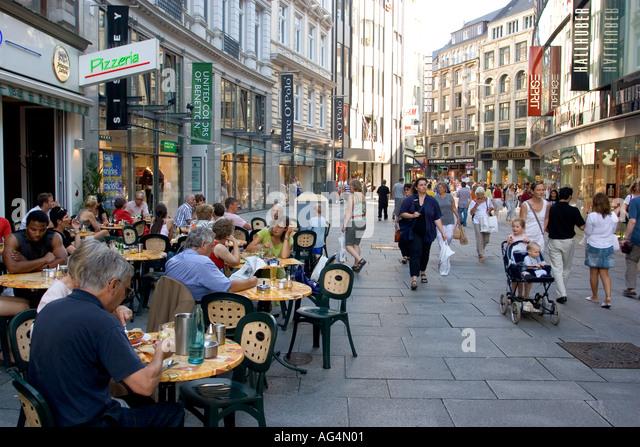 germany hamburg people walking spitalerstrasse stock photos germany hamburg people walking. Black Bedroom Furniture Sets. Home Design Ideas