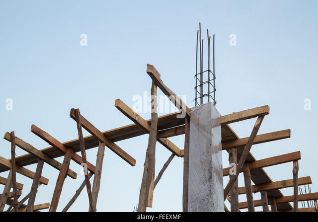 Black Metal Pillar Building : Metal pillars foundation building stock photos