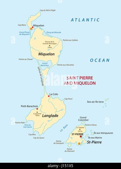 France Map Atlantic Stock Photos France Map Atlantic Stock - Saint pierre and miquelon map